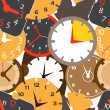 Vetorial Stock : Seamless pattern of different clocks