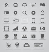 アイコンのコレクションの現代的な社会的なメディア — ストックベクタ