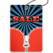 Shopping tag with the zipper — Stock Vector