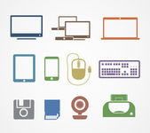 Iconos de material digital — Vector de stock