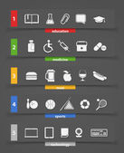 Different icons clip art — Stock Vector