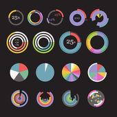 Cirkel diagram mallar samling — Stockvektor
