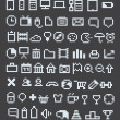 Pixel web icons collection - Stock Vector