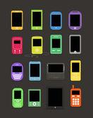 Абстрактный стиль современные и старинные мобильных гаджетов — Cтоковый вектор