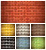 Different color brick textures collection — Stock Vector