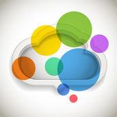 Renkli daireler ile soyut konuşma bulut — Stok Vektör