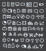 Pixel web icons collection — Stock Vector
