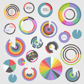 Circle chart templates collection — Vector de stock