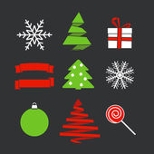 Abstract Christmas silhouettes — Stock Vector