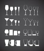 Coleção de silhuetas de vidro — Vetorial Stock