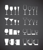 Glass silhouettes collection — Vector de stock