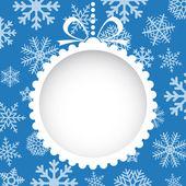 Boże Narodzenie kartkę z życzeniami z białe Boże Narodzenie zabawki — Wektor stockowy