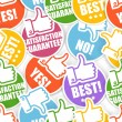 Approval paper stickers seamless background — Image vectorielle
