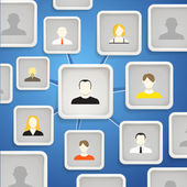 Abstract scheme of social network — Stock Vector