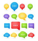 Color abstract speech cloud templates — Stock Vector