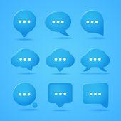 Nuvens de discurso abstrato. pronto para um texto — Vetorial Stock