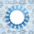 Christmas greeting card template. Ready for a text - Imagens vectoriais em stock