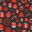 Christmas silhouettes seamless background — Stock vektor