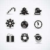 クリスマス シルエット ベクトル コレクション — Stockvektor