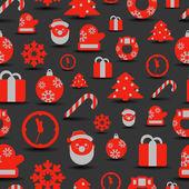 Natale sagome sfondo senza soluzione di continuità — Vettoriale Stock