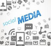 Social media abstract icons — Stock Vector