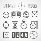 Different slyles of clock vector collection — Stock Vector