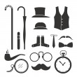 Royalty-Free Stock Vector Image: Gentlemens stuff design elements collection