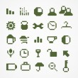 Pixel web icons collection. set 1 — Stock Vector