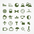 Pixel web icons collection. set 1 — Stock Vector #22835366