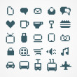 Pixel web icons collection. set 2 — Stock Vector