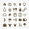 Pixel web icons collection. set 3 — Stock Vector