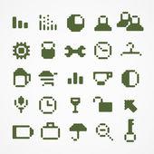Pixel web iconen collectie. reeks 1 — Stockvector