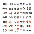 Web and business icons collection - Imagens vectoriais em stock