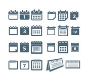 Different styles of calendar web icons collection — Vector de stock
