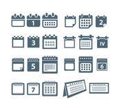 Diversos estilos de la colección de iconos calendario web — Vector de stock