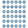 Royalty-Free Stock Vector Image: Web icons in speech clouds vector collection