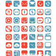 Color tablet interface icons collection — Stock Vector