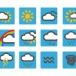 Stock Vector: Forecast weather icons set