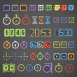Royalty-Free Stock Vector Image: Different color measuring stuff vector collection