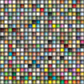 Abstract geometric seamless background of color squares — Stockvector