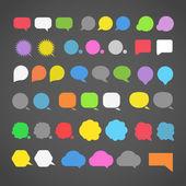 Abstracte kleur toespraak wolken silhouetten — Stockvector
