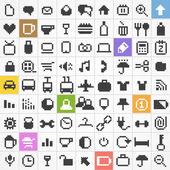 Kolekcja ikony www pikseli — Wektor stockowy
