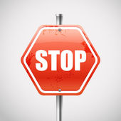 Stop road sign — Stock Vector