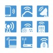 Stock Vector: Wireless equipment buttons