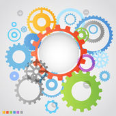 Color different gear wheels abstract background — Vector de stock