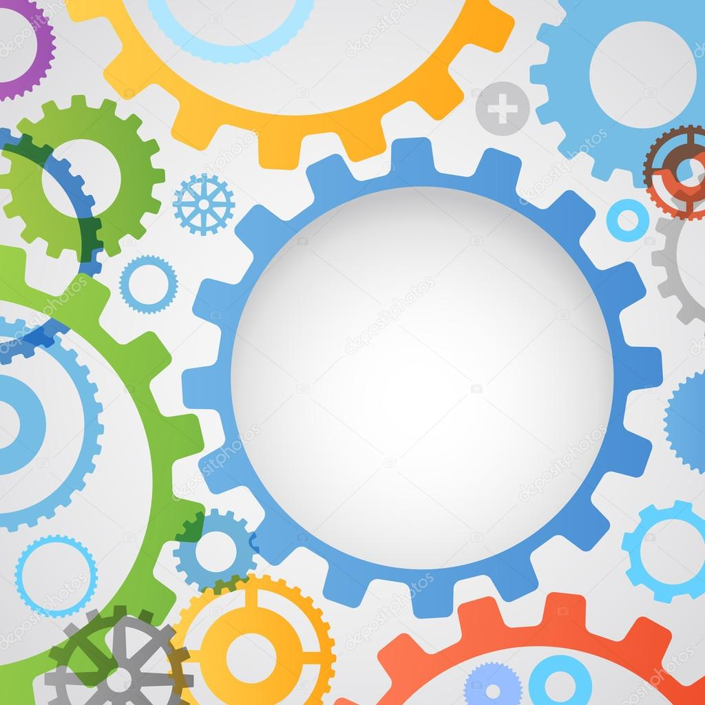 Color different gear wheels abstract background — Stock ...