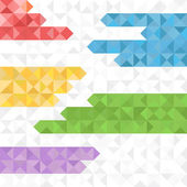 Abstract geometric background of color blocks — Stock Vector