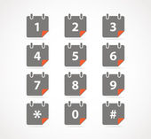 Сalendar icons with digits — Stock Vector