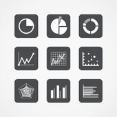 Information chart icons collection — Stock Vector