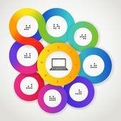 Kolor koło szablon sieci web interfejs — Wektor stockowy